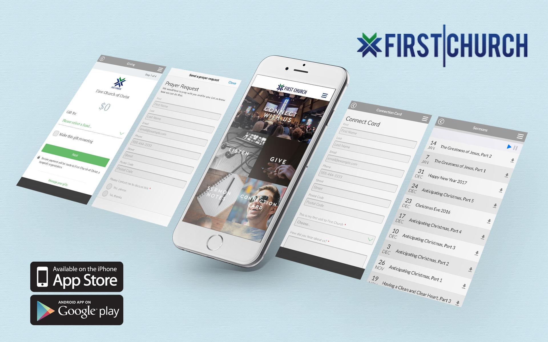 Mobile App - First Church